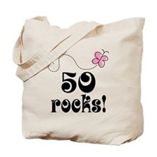 Cute 50 Rocks 50th Birthday Tote Bag