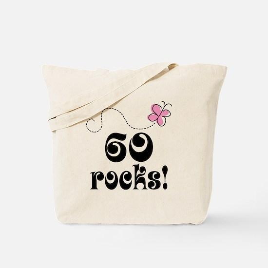 Cute 60 Rocks 60th Birthday Tote Bag