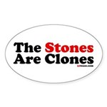 The Stones Are Clones Oval Sticker