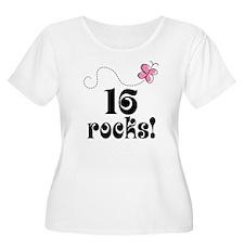 Cute 16 Rocks 16th Birthday T-Shirt