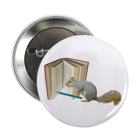 "Squirrel Pencil Book 2.25"" Button"