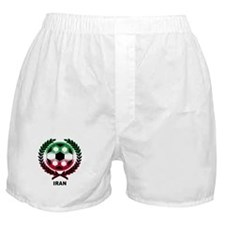 Iran World Cup Soccer Wreath Boxer Shorts
