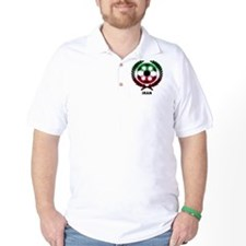 Iran World Cup Soccer Wreath T-Shirt