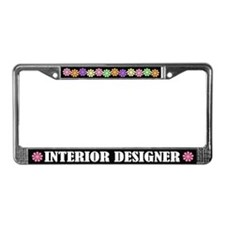 Interior Designer License Plate Frame