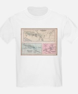 Vintage Map of The Hamptons (1873) T-Shirt