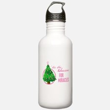 BreastCancer XmasMiracle Water Bottle