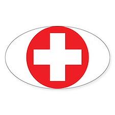 Original Red Cross Decal