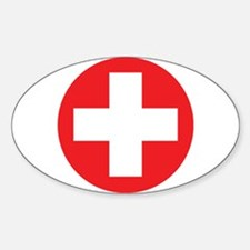 Original Red Cross Sticker (Oval)