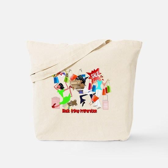 Black Friday Preparation Tote Bag