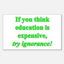 Education quote (green) Decal