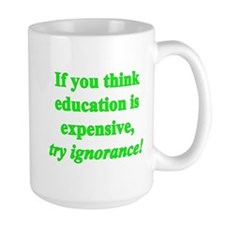 Education quote (green) Mug