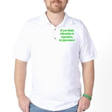 Education quote (green) T-Shirt