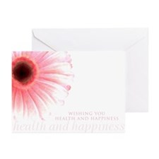 """""""Wishing You Health & Happiness""""Classic Pink Cards"""
