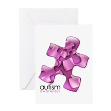 PuzzlesPuzzle (Pink) Greeting Card