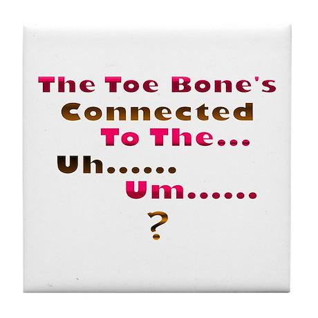 Toe Bone Tile Coaster