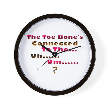 Toe Bone Wall Clock