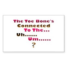 Toe Bone Rectangle Decal