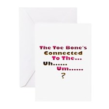 Toe Bone Greeting Cards (Pk of 10)