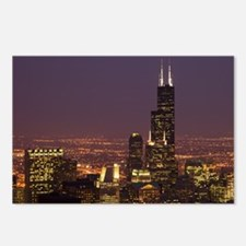 Sears Tower Night Postcards (Package of 8)