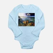 Cute Seascapes Long Sleeve Infant Bodysuit