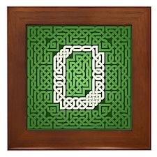 """""""Green Celtic Knot Number"""" Framed Tile"""