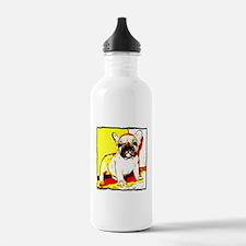 French Bulldog Art Water Bottle