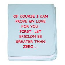 funny math joke Infant Blanket