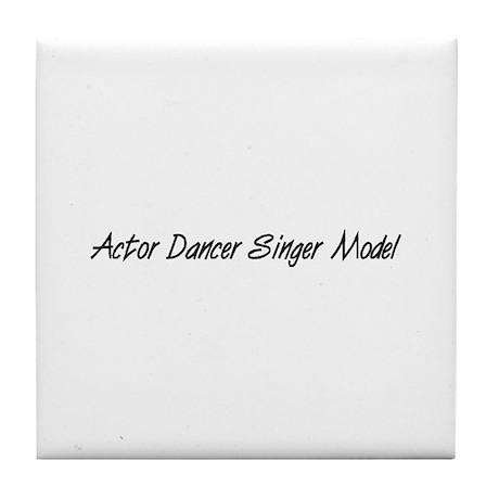 Actor Dancer Singer Model Tile Coaster