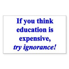 Education quote (blue) Decal