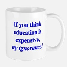 Education quote (blue) Mug
