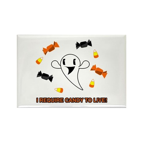 Candy Ghost Rectangle Magnet (100 pack)