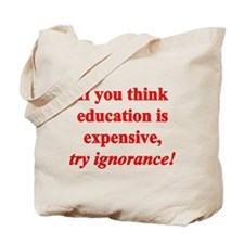 Education quote (Red) Tote Bag