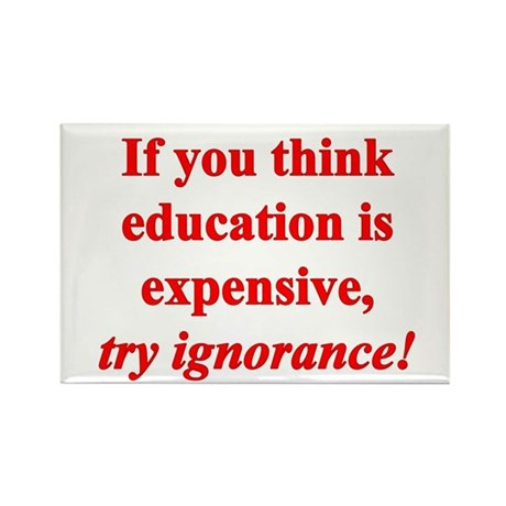 Education quote (Red) Rectangle Magnet