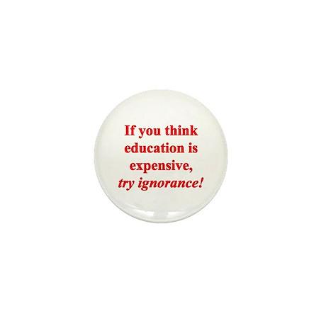 Education quote (Red) Mini Button