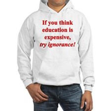 Education quote (Red) Hoodie