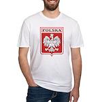 Polska Shield / Poland Shield Fitted T-Shirt