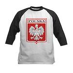 Polska Shield / Poland Shield Kids Baseball Jersey