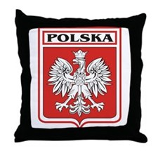 Polska Shield / Poland Shield Throw Pillow
