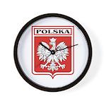 Polska Shield / Poland Shield Wall Clock