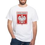 Polska Shield / Poland Shield White T-Shirt