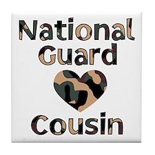 NG Cousin Heart Camo Tile Coaster