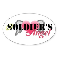 Soldiers Angel Sticker (Oval)
