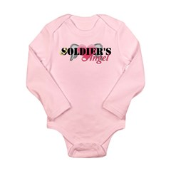 Soldiers Angel Long Sleeve Infant Bodysuit