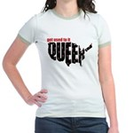 Queer. Here. Get used to it. Jr. Ringer T-Shirt