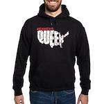 Queer. Here. Get used to it. Hoodie (dark)