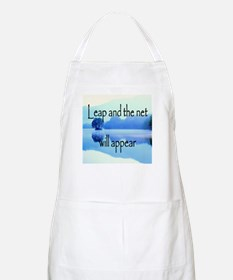 Leap and the net will appear Apron