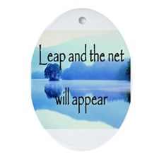 Leap and the net will appear Ornament (Oval)