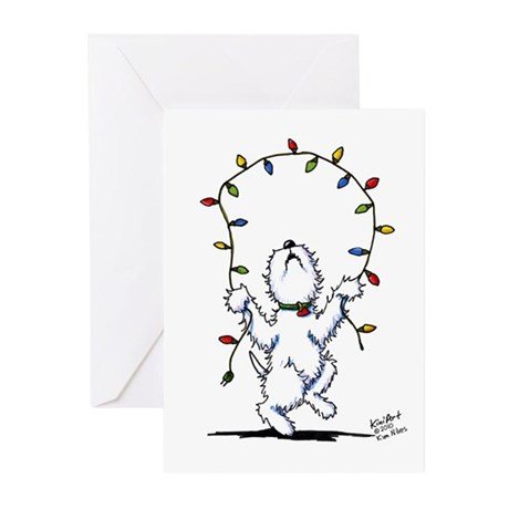 Joyful Christmas Westie Greeting Cards (Pk of 20)