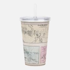 Vintage Map of The Ham Acrylic Double-wall Tumbler