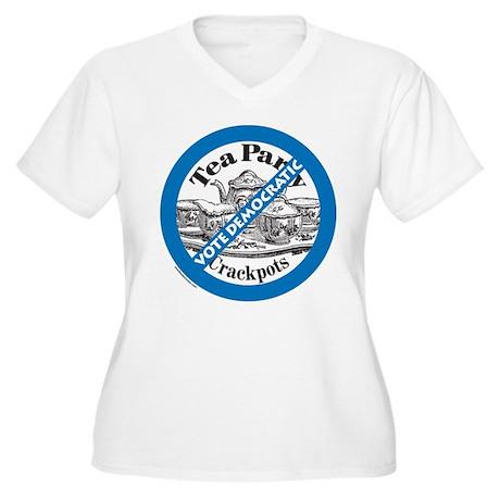 Vote Democratic Women's Plus Size V-Neck T-Shirt